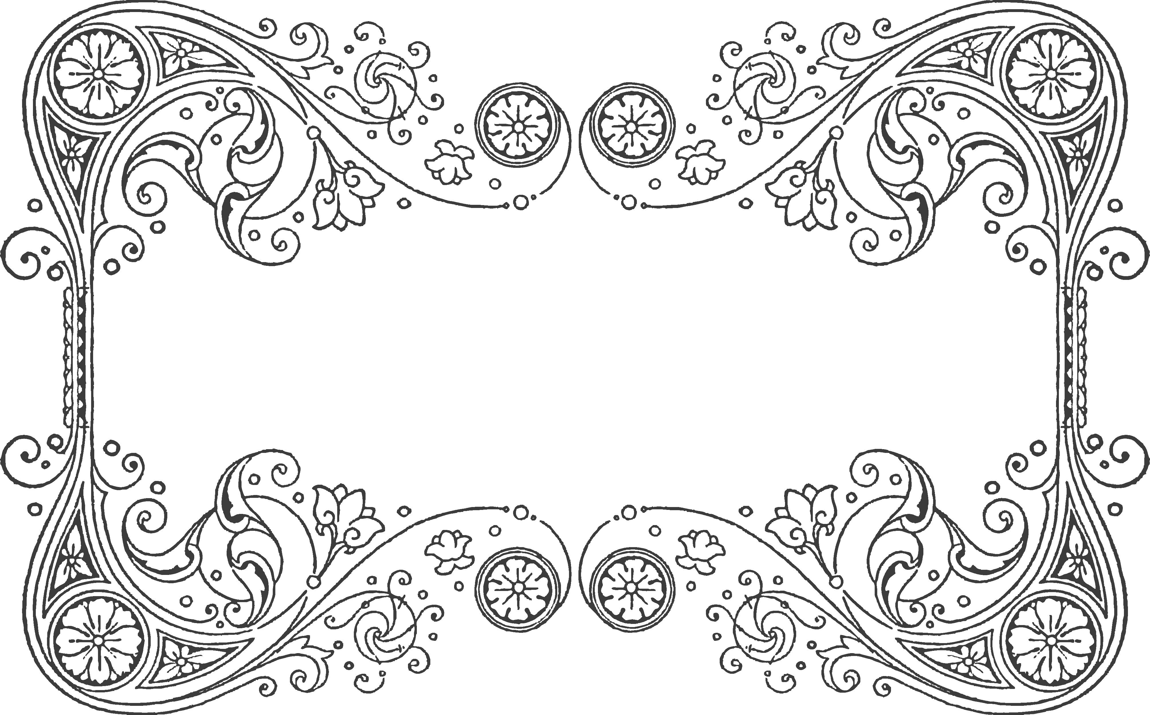Snowflake flourish border clipart for invitation banner transparent stock Quilling design pattern for a Frame | Quilling - Frames | Pinterest ... banner transparent stock