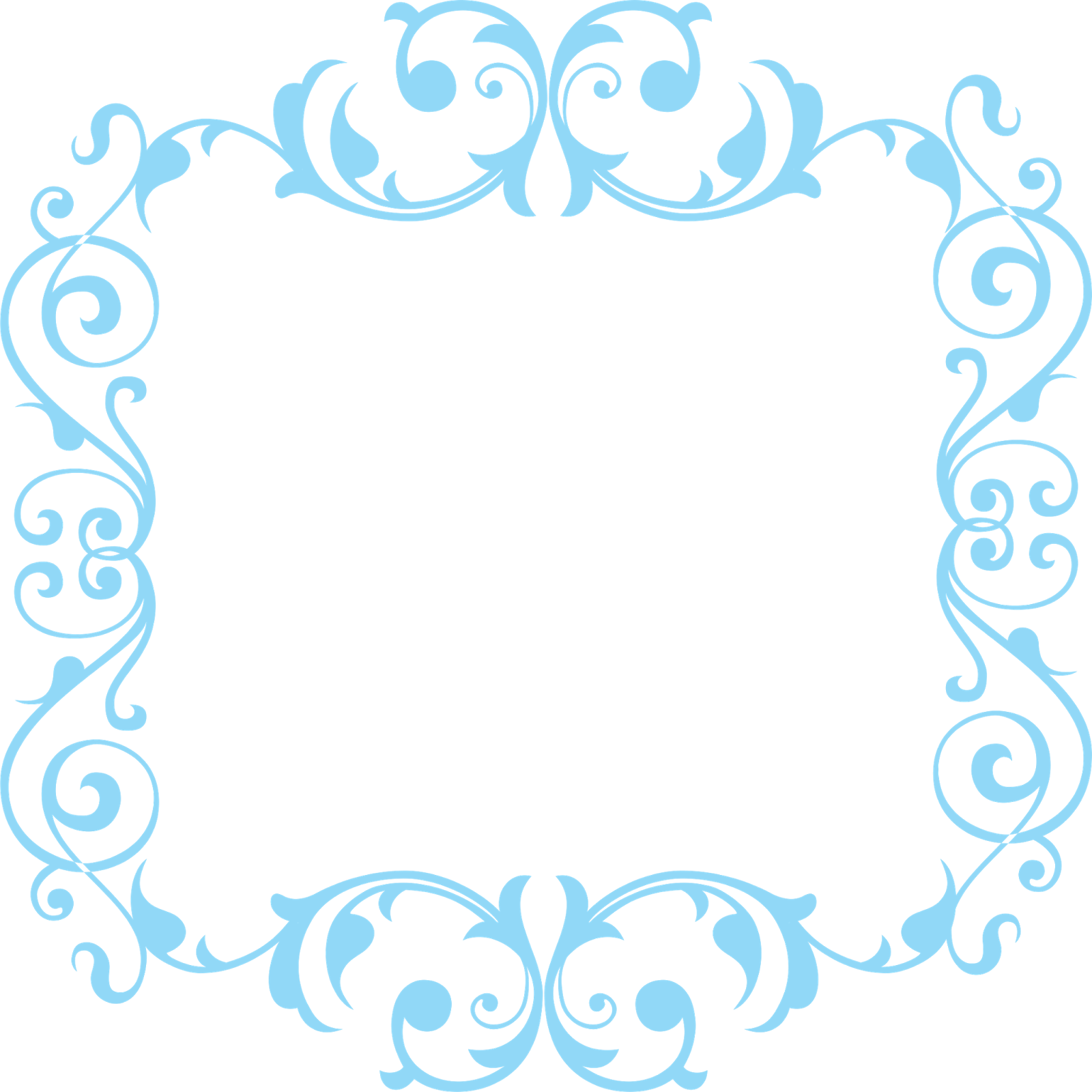 Snowflake flourish border clipart for invitation clipart royalty free FRAME1.png (1600×1600) | Frames and Border cut files | Pinterest ... clipart royalty free