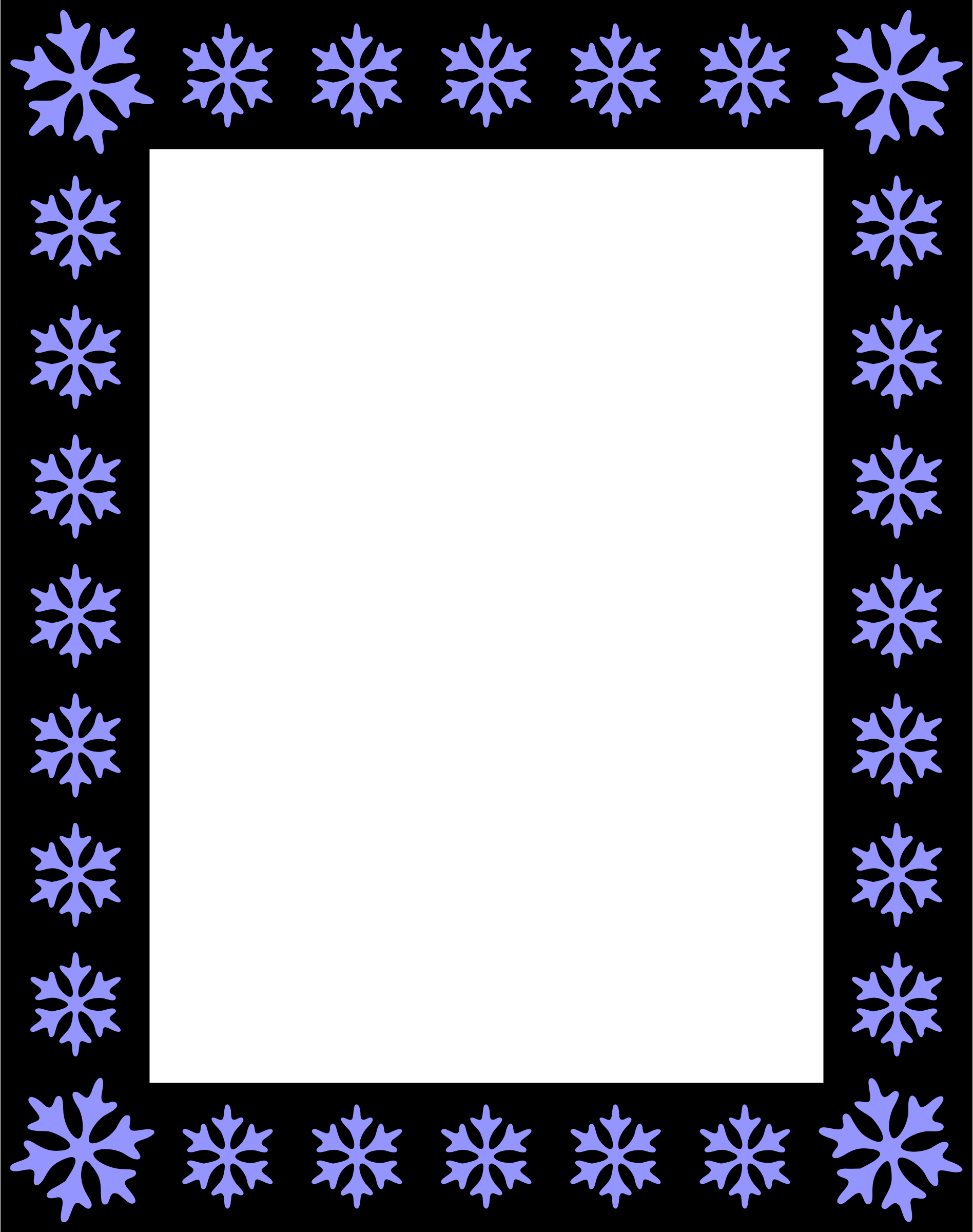 Snowflake frame clipart graphic royalty free library Clipart - Snowflake frame graphic royalty free library