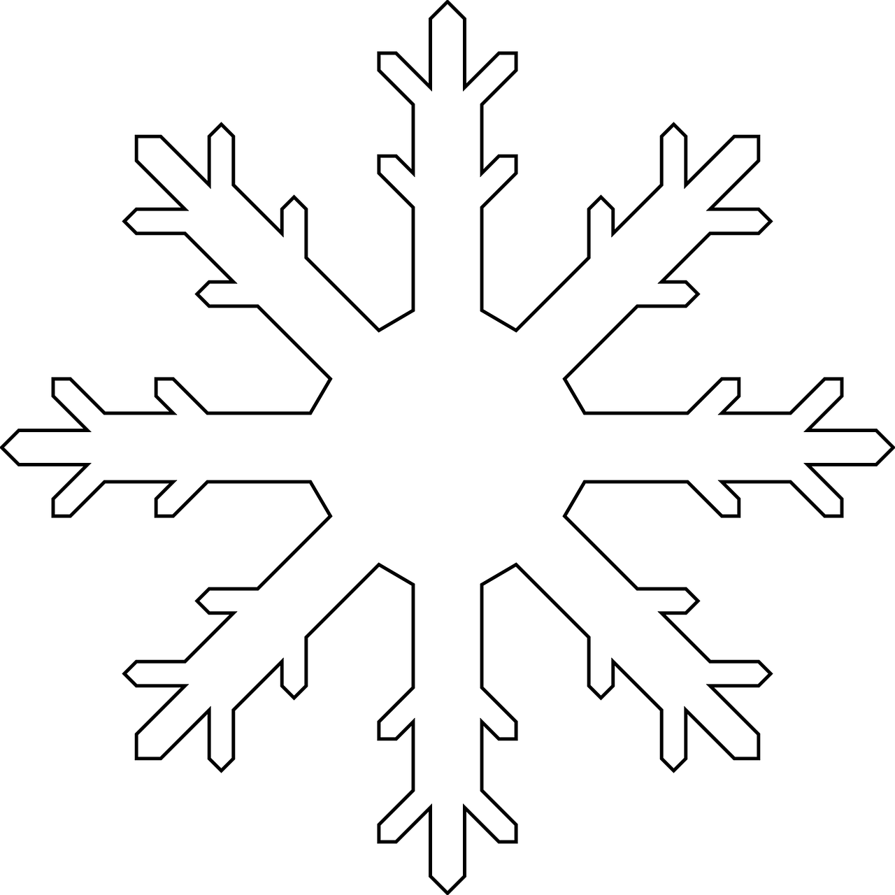 Snowflake free clipart templates printable picture freeuse library Snowflake Colouring Pages | Snowflake template, Template and Free ... picture freeuse library