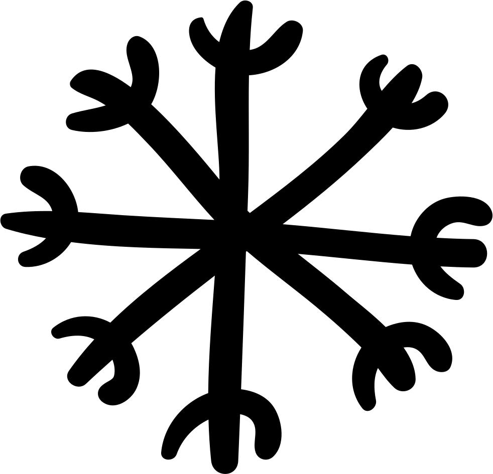 Snowflake hand drawn clipart white vector library library Snowflake Hand Drawn Shape Svg Png Icon Free Download (#39973 ... vector library library