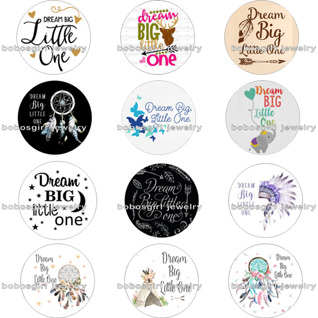 Snowflake keychain clipart jpg black and white Dream Big Little One Dreamcatcher glass Magnetic button fit snap ... jpg black and white