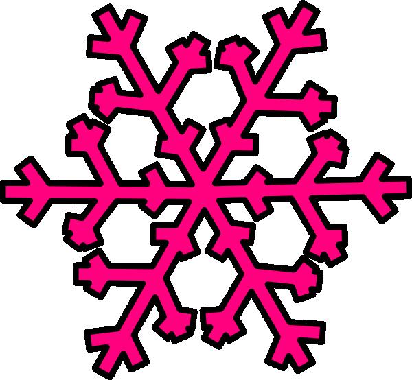 Snowflake label clipart image transparent snowflakes clipchart | Pink Snowflake clip art - vector clip art ... image transparent