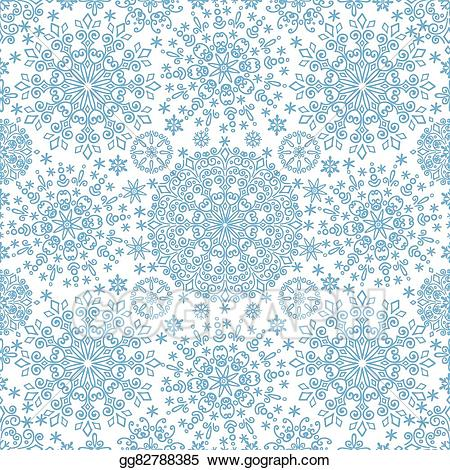 Snowflake lace clipart jpg library library Vector Clipart - Snowflakes lace symmetry seamless pattern ... jpg library library