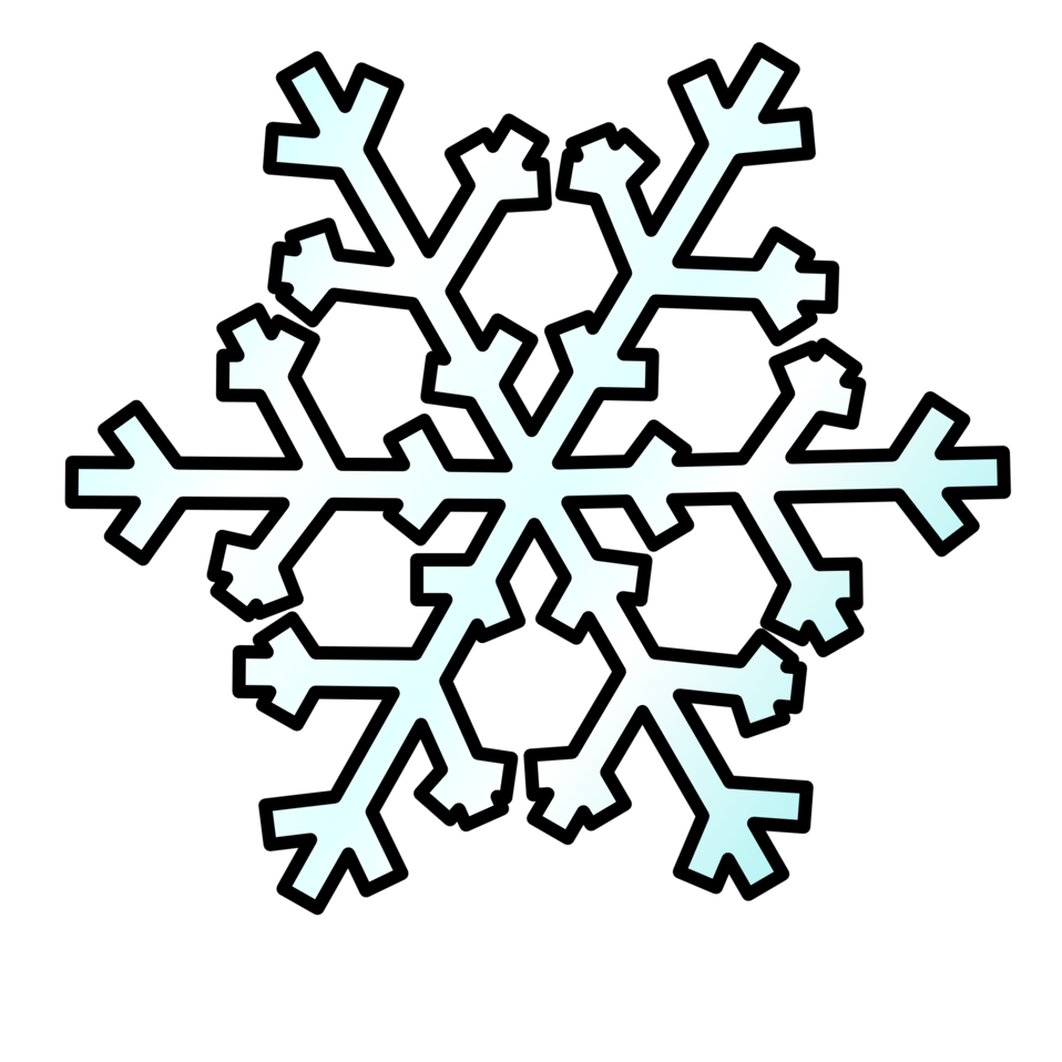 Snowflake with numbers clipart picture black and white download Public Domain Clip Art Image | Weather Symbols: Snow | ID ... picture black and white download