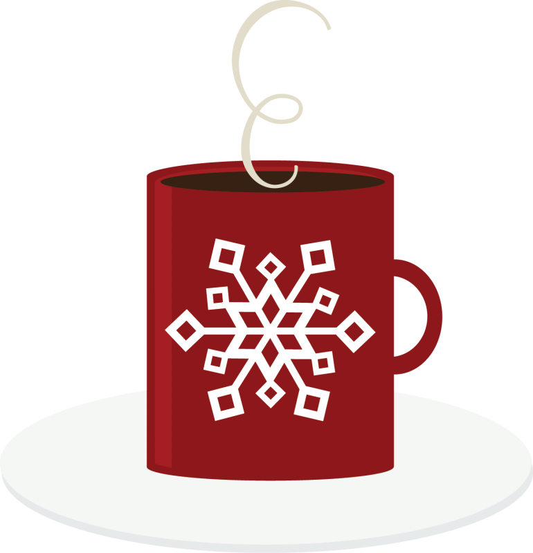 Snowflake maroon clipart picture black and white Freebie of the Day! Hot Cocoa | Cuttable Scrapbook SVG Files ... picture black and white