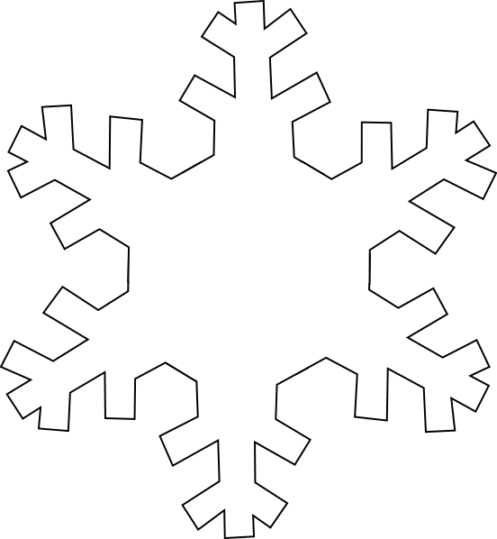 Snowflake outline clipart jpg royalty free Snowflake Outline Clip Art at Clker.com - vector clip art online ... jpg royalty free