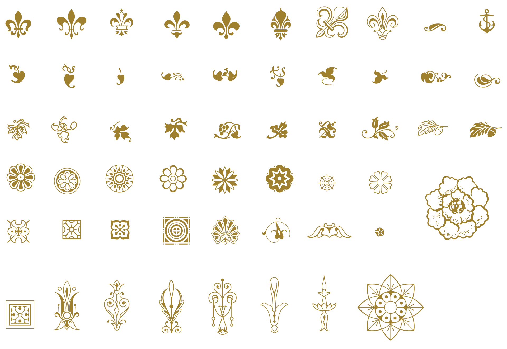 Snowflake picture frame clipart with hole in middle image library download Essential Vintage Vector Pack - 930 vector ornaments, 465 decorative ... image library download