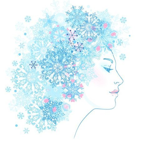 Snowflake profile pics clipart library Free Snowflake pattern vector woman in profile Clipart and ... library
