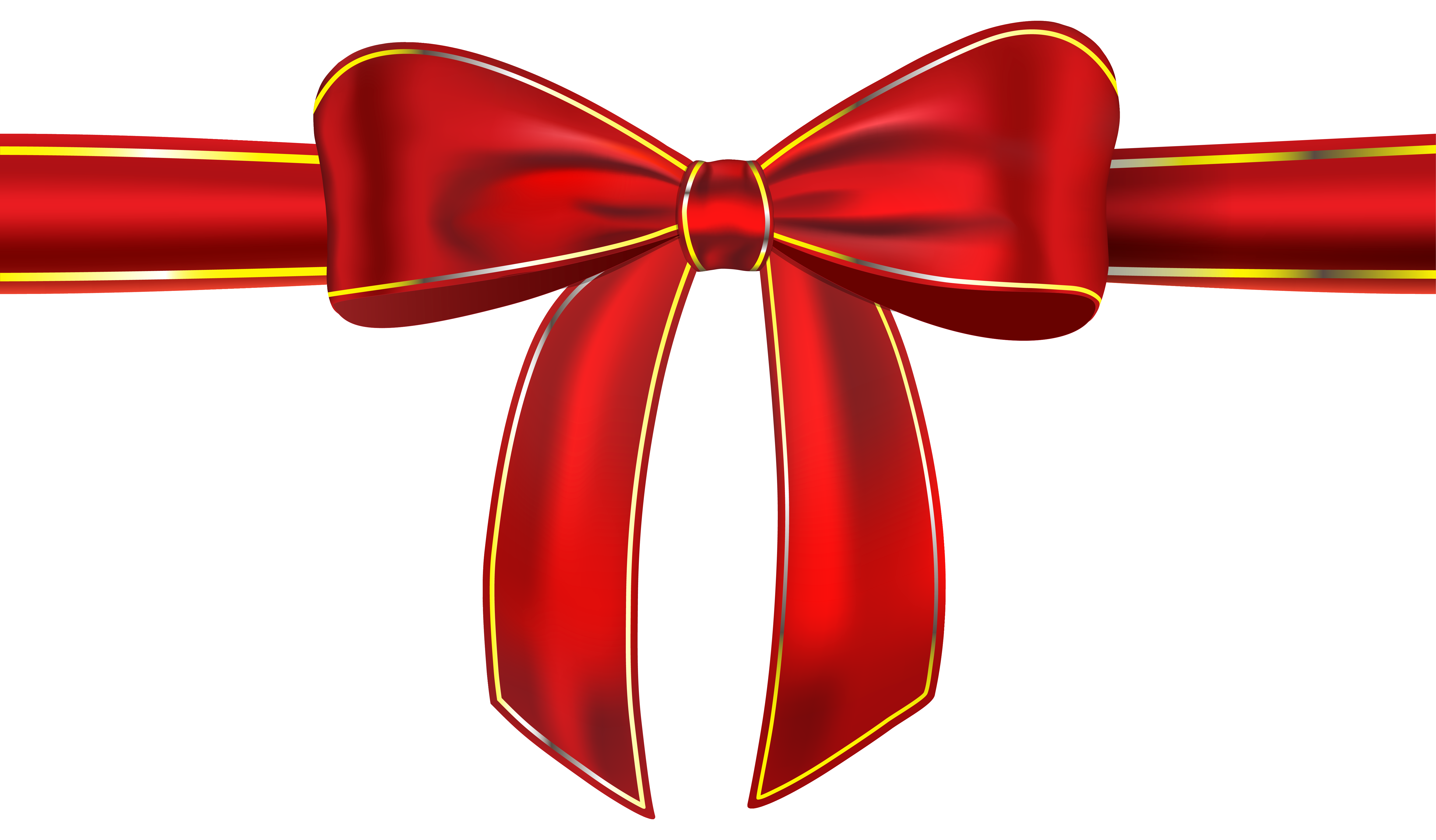 Star bow clipart banner royalty free Red Ribbon with Bow PNG Clipart Picture | Gallery Yopriceville ... banner royalty free