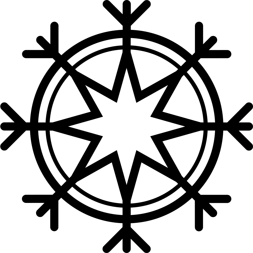 Snowflake serif clipart picture transparent download Snowflake Svg Png Icon Free Download (#39615) - OnlineWebFonts.COM picture transparent download