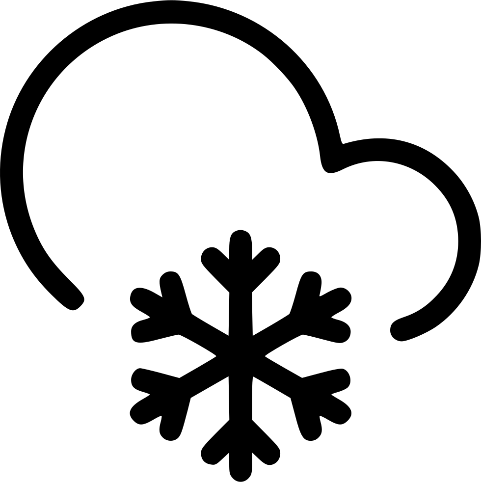 Snowflake serif clipart svg black and white Frosty Cloud Snow Snowflake Svg Png Icon Free Download (#540658 ... svg black and white