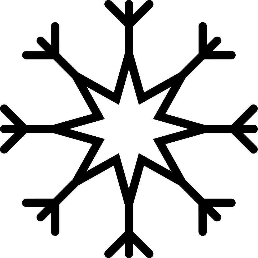 Snowflake serif clipart graphic download Snowflake Svg Png Icon Free Download (#39607) - OnlineWebFonts.COM graphic download