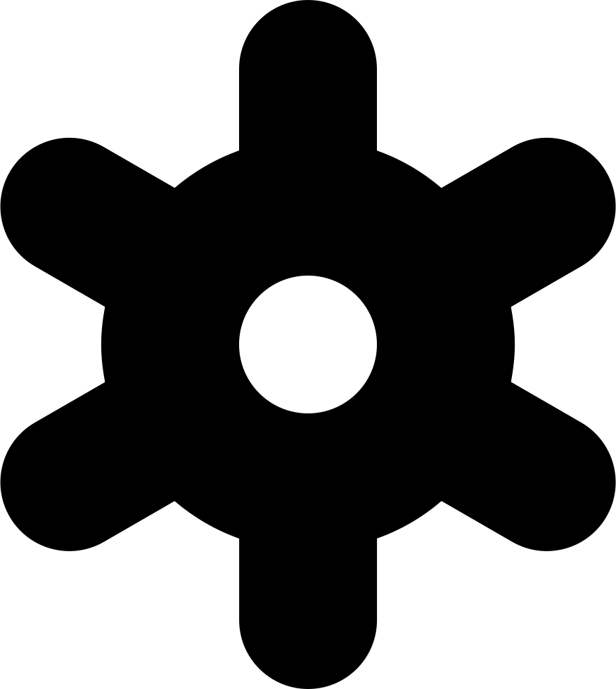 Snowflake serif clipart svg royalty free library Snowflake Gear Weather Svg Png Icon Free Download (#124 ... svg royalty free library