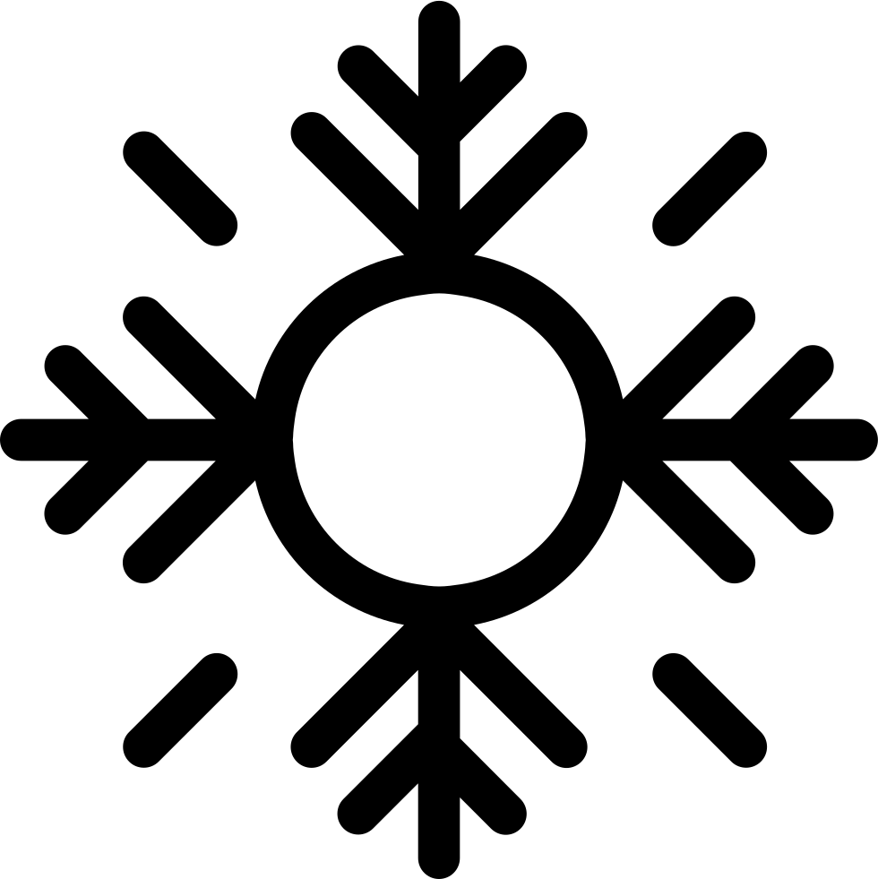 Snowflake serif clipart vector black and white stock Snowflake Svg Png Icon Free Download (#39597) - OnlineWebFonts.COM vector black and white stock