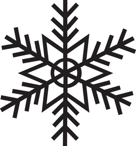Snowflake silouette clipart vector freeuse library Free Snowflake Clipart Image - Snowflake Silhouette vector freeuse library