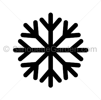 Snowflake silouette clipart vector freeuse Simple Snowflake Silhouette vector freeuse