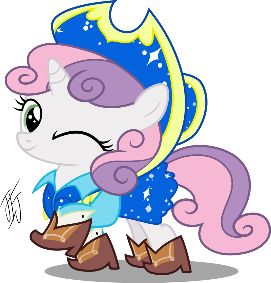 Snowflake square dance clipart jpg black and white Sweetie Belle Square Dance by MLP-Scribbles on DeviantArt jpg black and white