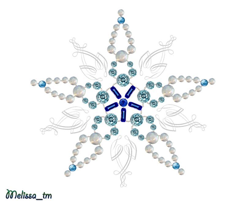 Snowflake swirl clipart graphic free snowflake from pearls and germs png by Melissa-tm on DeviantArt graphic free