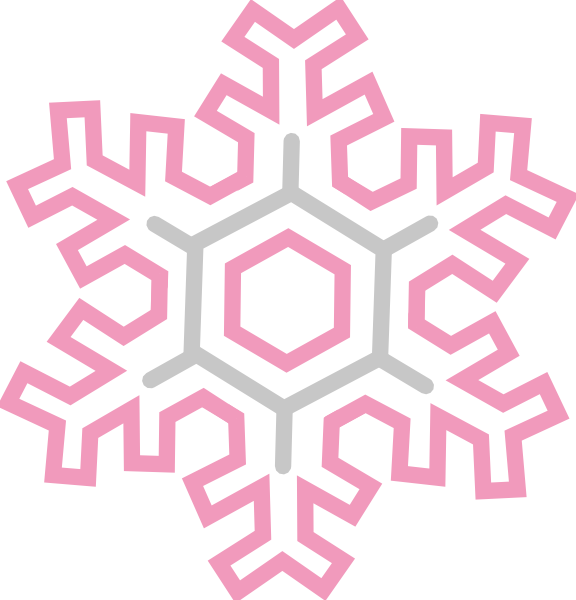 Snowflake vines clipart banner free download Pink And Gold Snowflake Clip Art at Clker.com - vector clip art ... banner free download