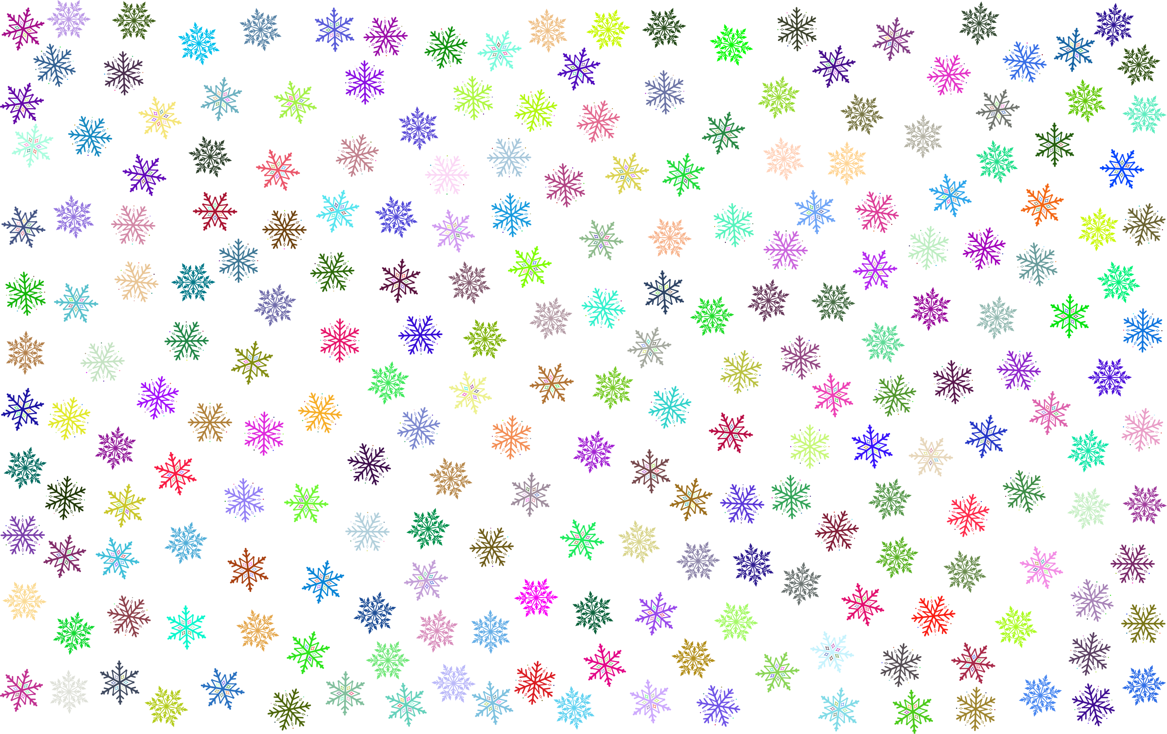 Snowflake wallpaper clipart graphic free library Clipart - Prismatic Snowflakes Pattern No Background graphic free library
