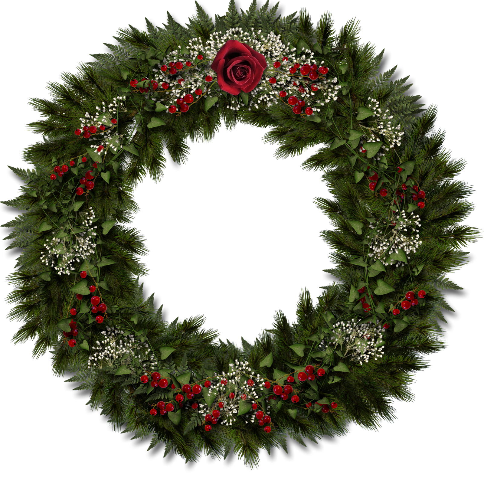 Snowflake wreath free clipart picture library Free Christmas Scrapbooking Goodies picture library