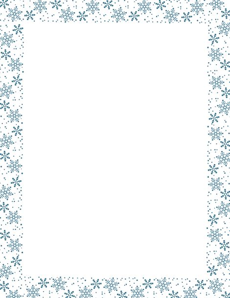 Snowman border clipart free graphic Free Snowflake Frame Cliparts, Download Free Clip Art, Free ... graphic