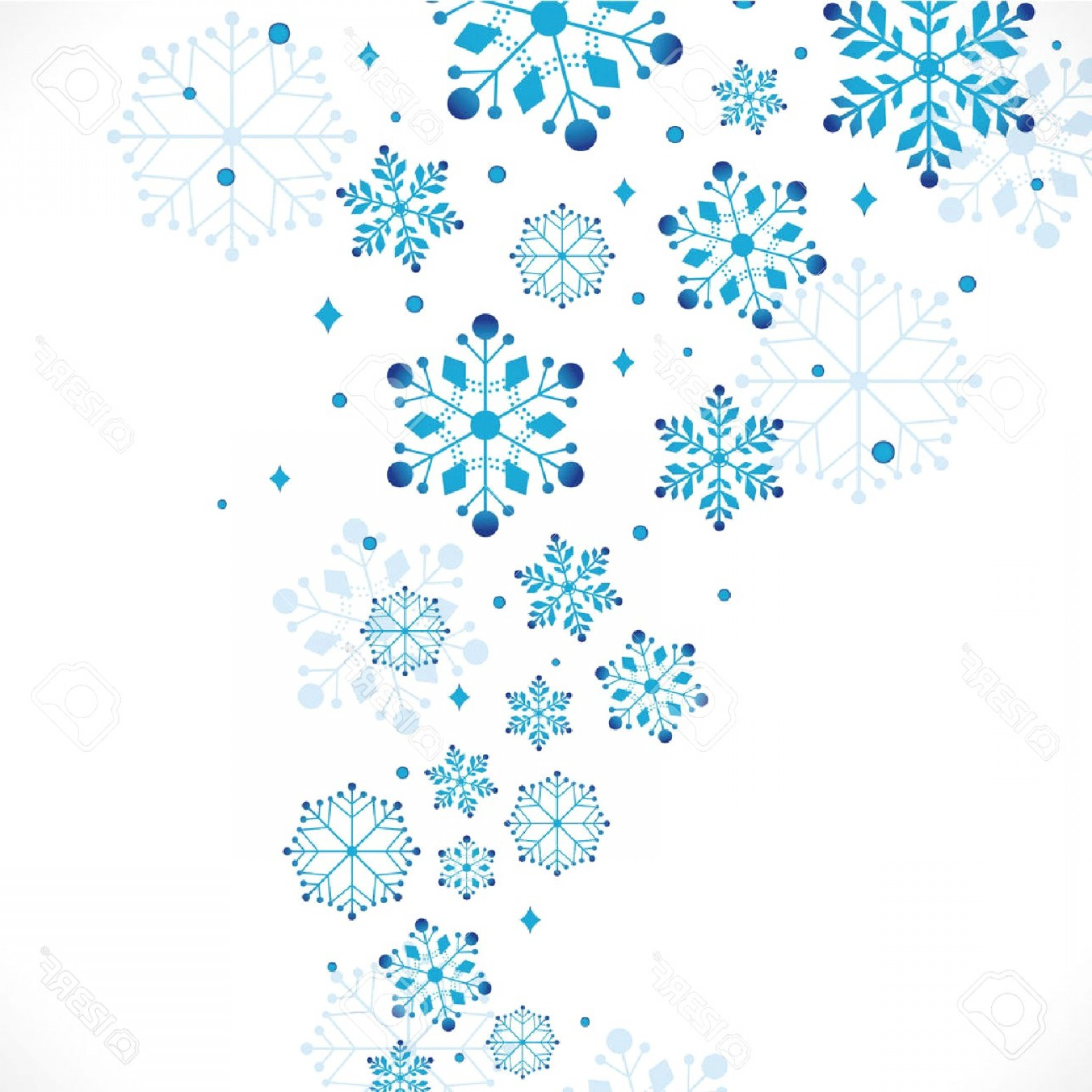 Snowflakes clipart borders clip Snow Clipart Background Vector Illustration Stock Snowflake ... clip