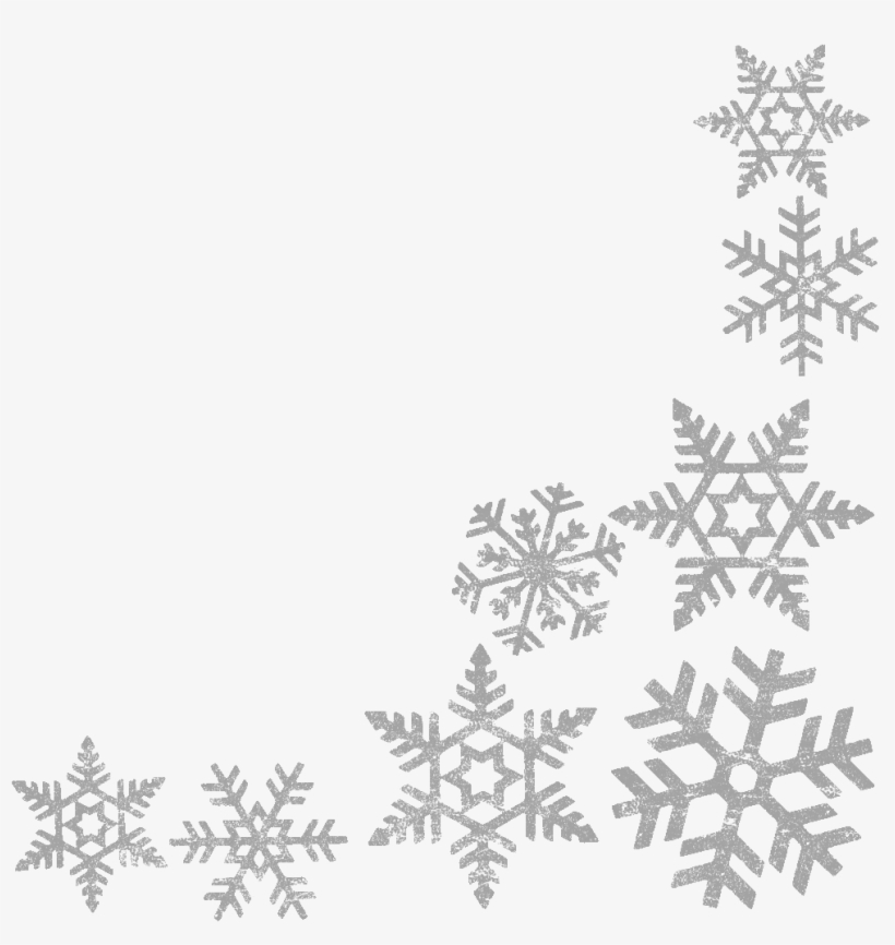 Snowflakes clipart borders banner library download Snowflake Clipart Border Clipartxtras Lime Green Christmas ... banner library download