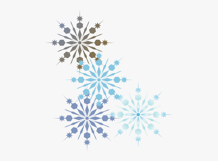 Snowflakes clipart borders vector freeuse Snowflakes Clipart Borders - Snowflake Without A Background ... vector freeuse