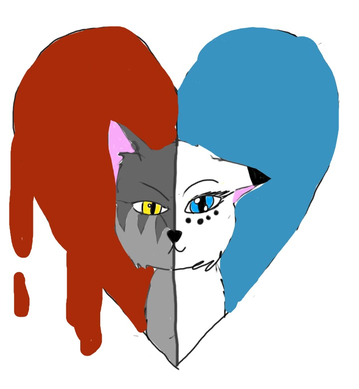 Snowfur clipart picture freeuse library Thistleclaw x Snowfur thistleclaw snowfur warriorcats... picture freeuse library