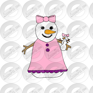 Snowgirl clipart free stock Snowgirl Picture for Classroom / Therapy Use - Great ... free stock