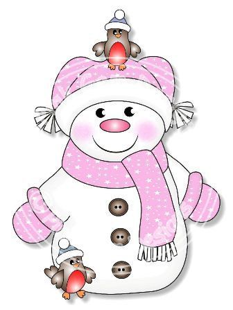 Snowgirl clipart jpg black and white library CHRISTMAS GIRL SNOWMAN IN PINK CLIP ART | CLIP ART - SNOWMAN ... jpg black and white library