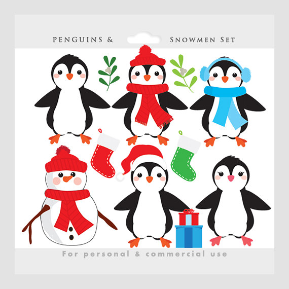 Snowman and penguin clipart clip black and white download Penguin clipart - Christmas clip art, penguins, snowman ... clip black and white download