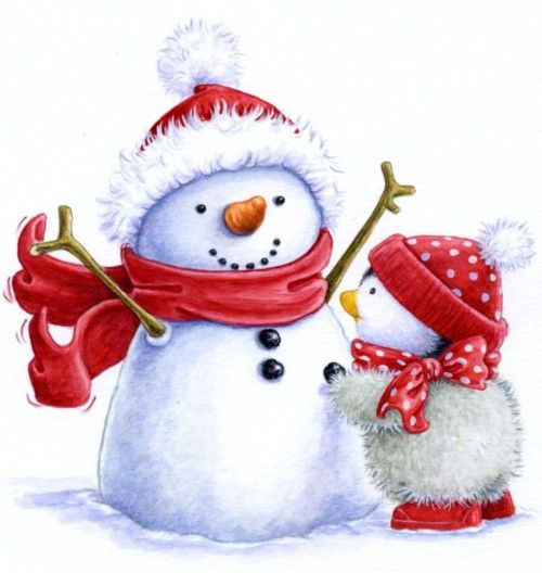 Snowman and penguin clipart picture freeuse download SNOWMAN | Painting - Xmas/Winter | Snowman images, Christmas ... picture freeuse download