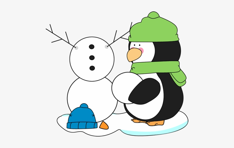 Snowman penguin clipart jpg free library Penguin Building A Snowman - Building A Snowman Clipart ... jpg free library