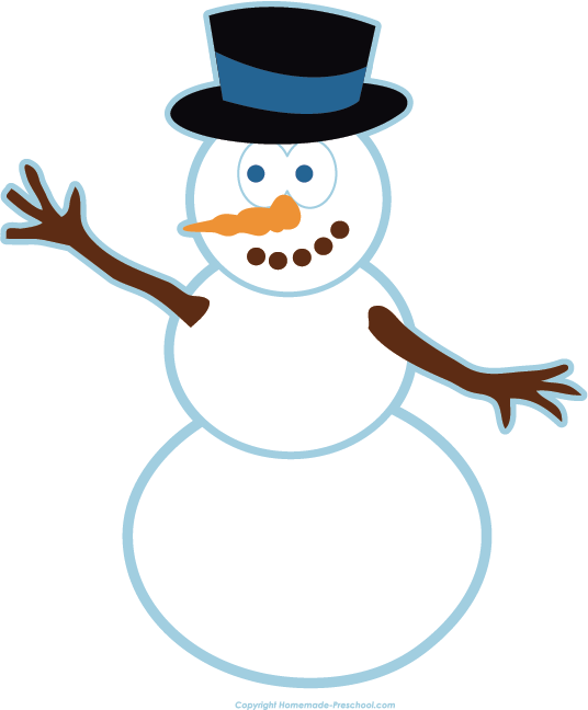 Snowman book clipart image download Free Winter Clipart image download