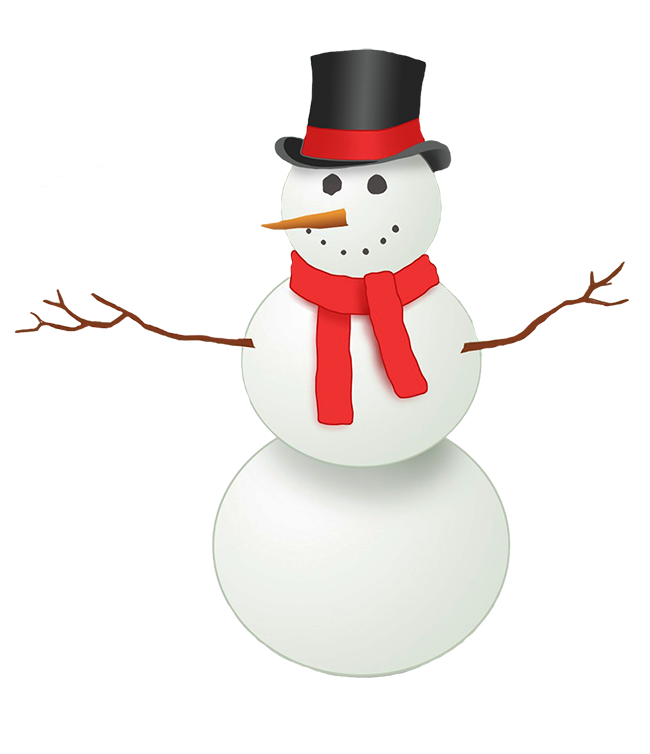 Snowman clipart with crown black and white Snowman Clipart black and white