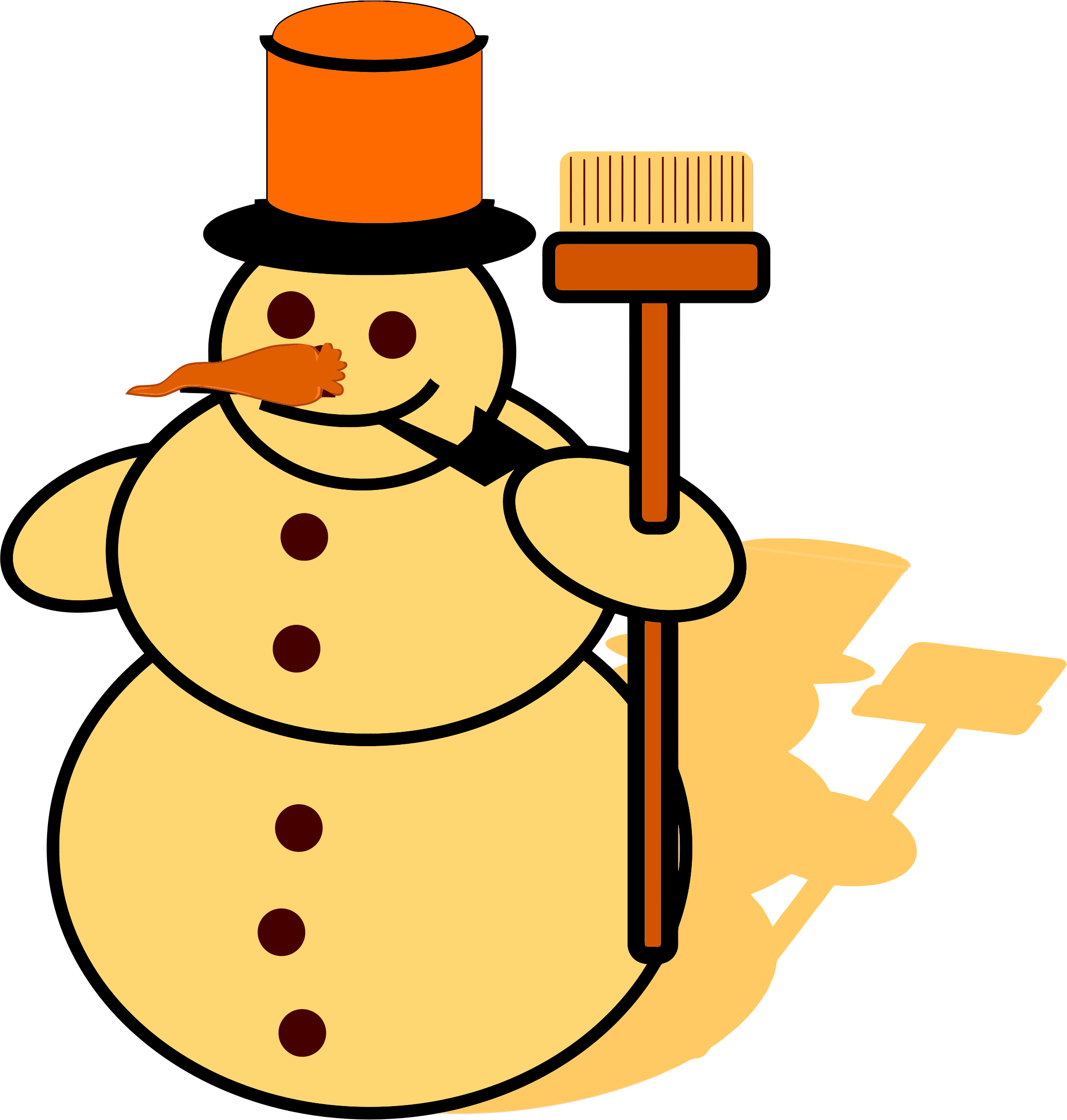 Snowman book clipart clipart freeuse Snowman clipart yellow ~ Frames ~ Illustrations ~ HD images ~ Photo ... clipart freeuse