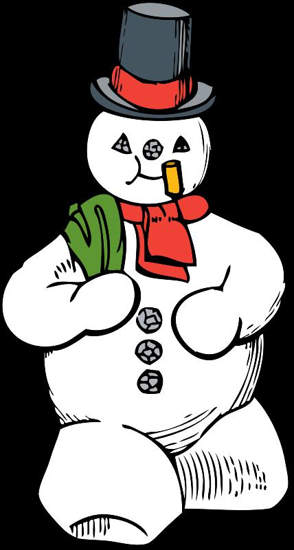 Snowman book clipart image Clipart - snowman image
