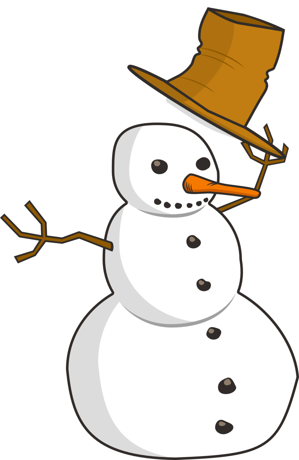 Snowman book clipart svg free stock Public Domain Clip Art Image | Hat Tip Snowman | ID: 13529485212529 ... svg free stock