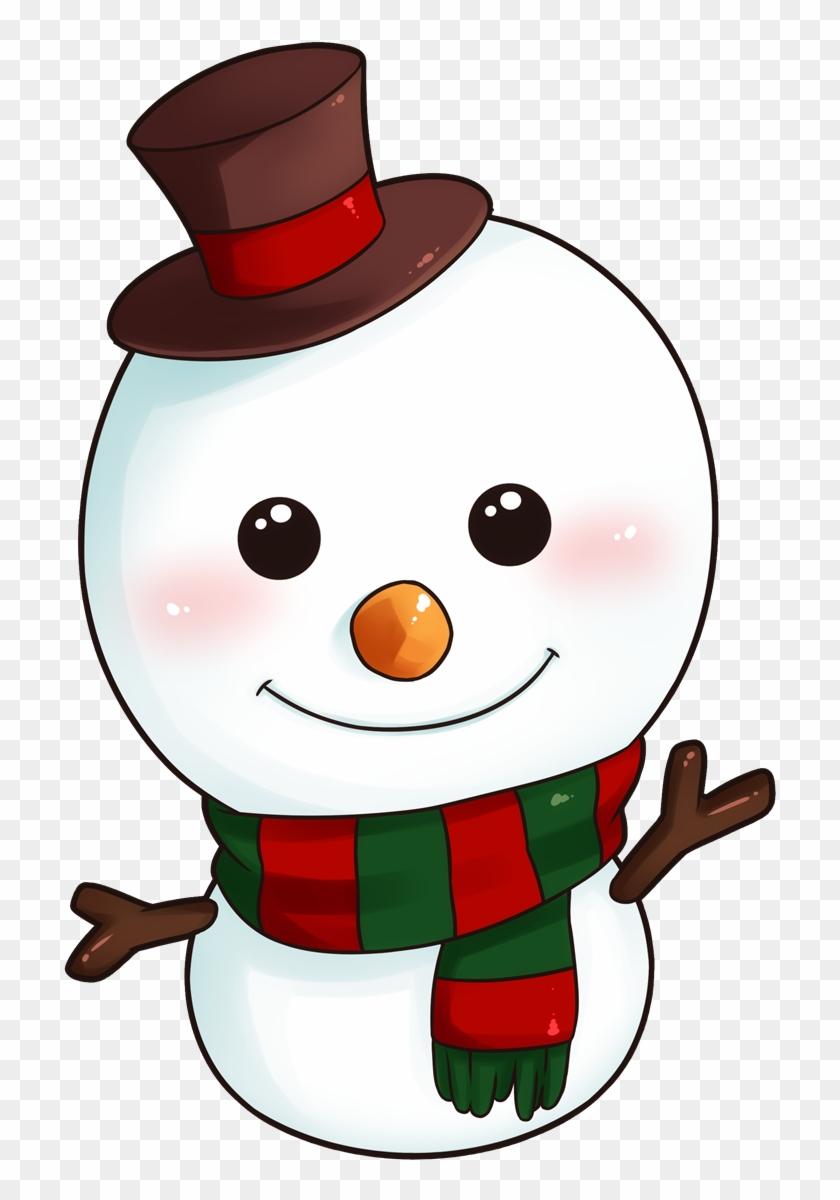Snowman cartoon clipart clip free stock Christmas Snowman Clipart - Christmas Cute Snowman Cartoon ... clip free stock