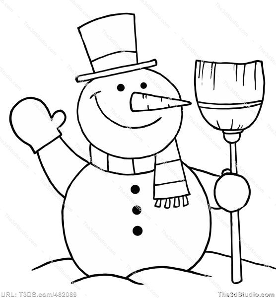 Snowman clipart black and white to color svg transparent library snowman clipart black and white - Google Search ... svg transparent library