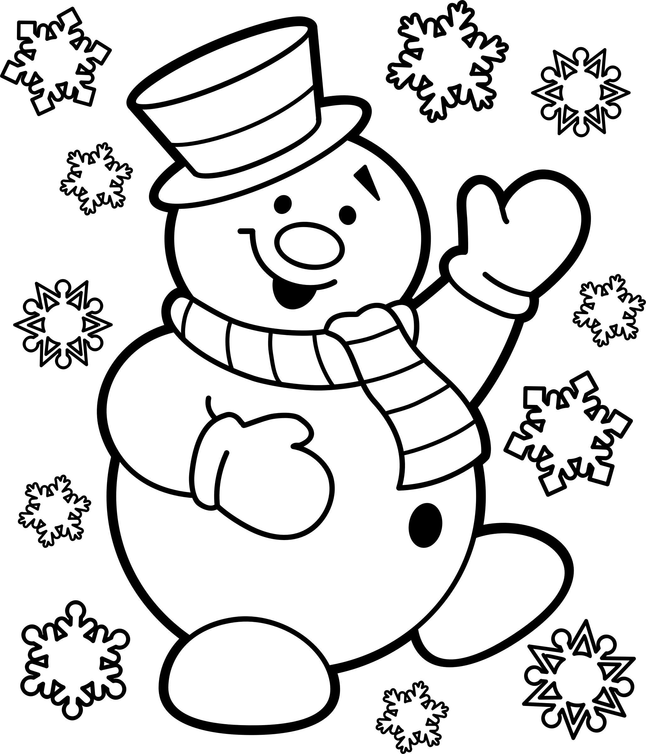 Snowman clipart black and white to color freeuse stock Snowman black and white snowman clipart black and white ... freeuse stock