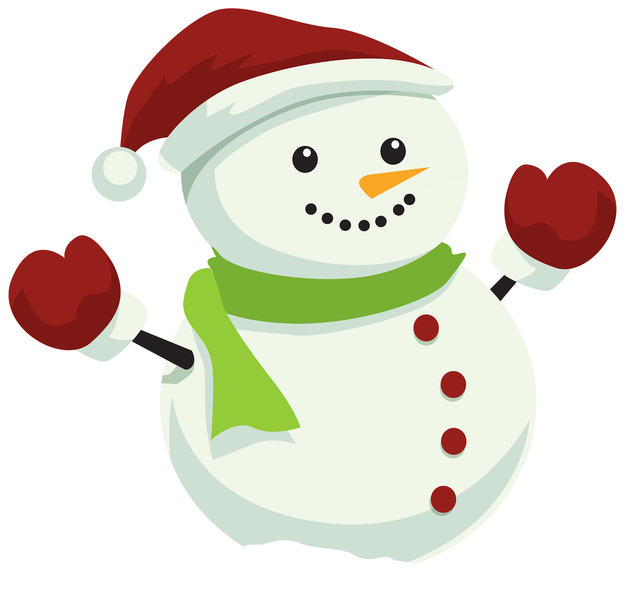 Snowman with Christmas Hat PNG Clipart - Best WEB Clipart graphic
