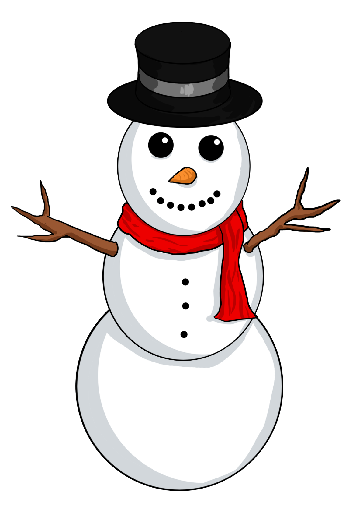 Snowman clipart with crown image black and white download Snowman clipart free | ClipartMonk - Free Clip Art Images image black and white download