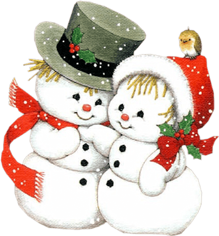 Snowman couple clipart png black and white download Muñecos De Nieve - Snowman Couple Clipart | Full Size PNG ... png black and white download