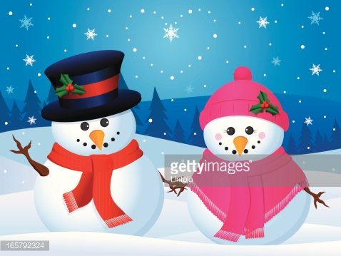 Snowman couple clipart banner royalty free stock Loving Snowman Couple premium clipart - ClipartLogo.com banner royalty free stock