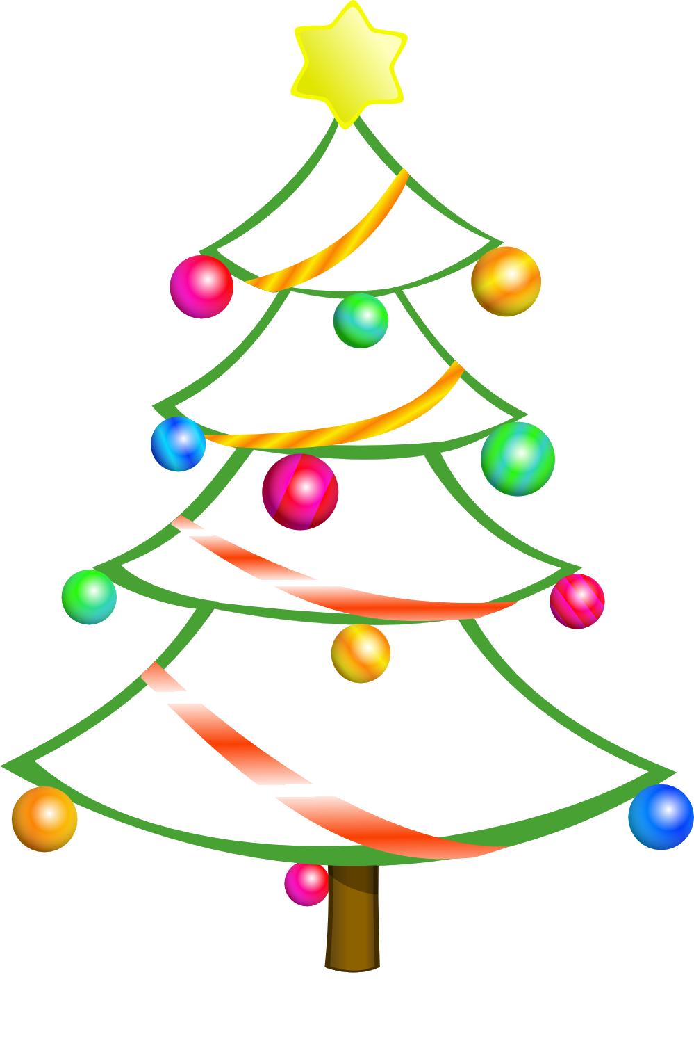 Snowman decorating christmas tree clipart banner transparent Christmas Tree Clip Art   Free Colorful Christmas Tree Clip Art ... banner transparent