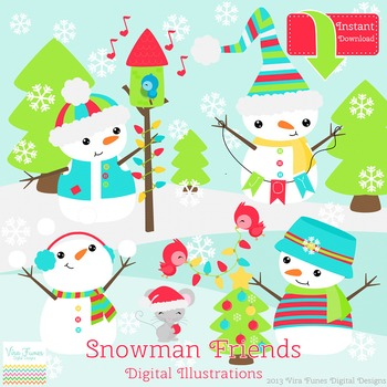 Snowman friends clipart graphic library download Snowman Friends Clip art graphic library download